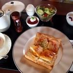 よつば珈琲 - 料理写真:ムッシュ&マダム セット(モーニング)