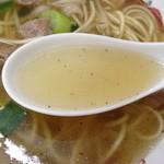 ガード下食堂 - ラーメンスープ。