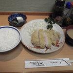 とん八亭 - ロースカツ定食      1700円
