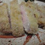 とん八亭 - ロースカツ定食(アップ)   1700円