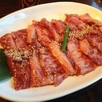 マルコポーロ焼肉の家 - ランチの信州牛カルビセット(肉大盛り)1,580円