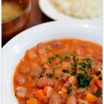 田能久 - 料理写真:豆と野菜のポークシチューとライス