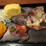 旨い屋清童 - 鯛の味噌漬け 出汁巻き卵 刺身 南瓜の煮物