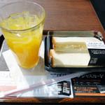上島珈琲店 - Cセット,たまご&チーズコールスローサンド