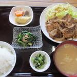 ししぎしし - 料理写真:イノシシ焼肉定食(980円)