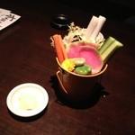海鮮酒菜げんげ - 付出しのバーニャカウダー