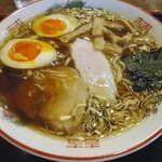Mendokorosamba - 「東京正油ラーメン」+味玉。650円+100円也。税込。