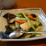 希須林 - イカと青菜の炒め