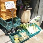 18849041 - 県農で採れた野菜の数々