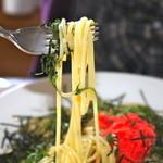 野の花 - パスタの麺