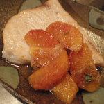 仲町竹田 - カジキの軽いポワレ・ブラッドオレンジのソース