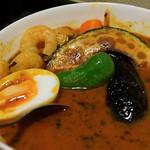 カリーアンドカフェ ガネーシャ - スープカレー(シーフード野菜)(7辛)