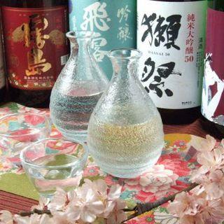北海道地酒を中心に珍しい日本酒20種以上ご用意