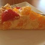 クレイトンハウス - セットのケーキ(いちごとオレンジのタルト)