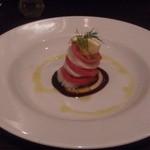 オステリア ニコ - ホタテとトマトのミルフィーユ