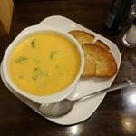 18862413 - スープセット930円のサーモンとブロッコリーのスープ