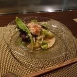 朱藏 - 蟹味噌ソースのサラダ