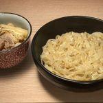小麦と肉 桃の木 - つけ麺 昆布醤油味