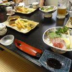 すし鮮 - 丁寧に揚げられた天ぷら