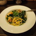18869073 - 小エビと青菜のパスタ