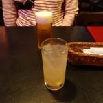 イヴ テラス - ビールとライチジュース