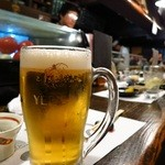 いたる - エビス生ビール(樽生)600円
