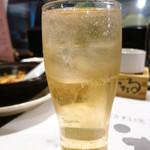 いたる - 天狗舞の限定うめ酒(純水ソーダ割り)600円