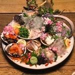 割烹旅館川源 - 料理写真:刺身はこれで二人前