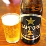 18877443 - 瓶ビール(470円)サッポロ