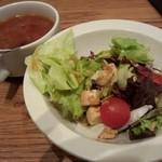 18878278 - セットのサラダとスープ