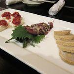 アジト - 唐子レンコン、蛍烏賊酢味噌和え、  チャンジャカマンベールチーズ