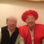 小石川 かとう - 友人と記念撮影(^^ゞ