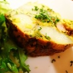 ビストロ アンプル - 前菜のスペイン風オムレツ