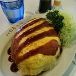 レストラン 白鳥 - スーパージャンボオムライス