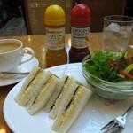18881029 - (2013/4月)モーニングサンドイッチセットの全景