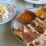 マハラジャ - ナンは食べやすくカット