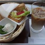 モリバコーヒー - シーザーチキンサンドセット:380円