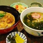 あす花亭 - スペシャルカツ丼(大うどん付)