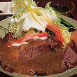 レストラン 沙羅沙 - (2013/4月)ステーキセット(大根おろしソース)アップ写真