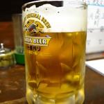 やきとり たにむら - 生ビール(キリン一番搾り)500円