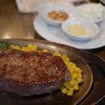 ステーキ カフェ ケネディ - サーロイン&ニンニク3種セットだっけか(ノ´∀`*)