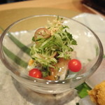 坂ノ下 田茂戸 - 2013年5月 お造りと一緒に 鰺の梅サラダ