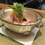 坂ノ下 田茂戸 - 2013年5月牛モモと蒸し野菜 味噌だれと揚げゴボウ