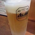 八笑 - 生ビール中 \480(税別)