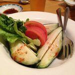 18894818 - 水茄子とトマトのサラダ ¥580