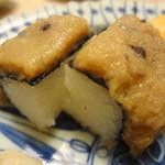 銀座 鮨青木 - 鱧山椒の棒寿司