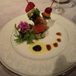 18899413 - 前菜:4種の海の幸