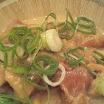 居酒屋 利根 - 鶏皮の味噌煮