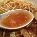 青樹 - あっさり煮干しらーめん、スープ
