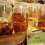 チャミスカレー - 果実酒の数々